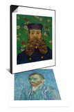 Self-Portrait, c.1889 & Portrait of the Postman Joseph Roulin, c.1889 Set Posters by Vincent van Gogh
