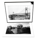 Palace of Fine Arts Exposition, San Francisco & St. John Bridge over Columbia, Portland Set Art