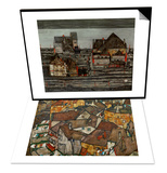 A Village & Suburb I, 1914 Set Prints by Egon Schiele