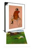 The Fallen Jockey, 1896-1898 & Cavalier en habit rouge Set Art by Edgar Degas