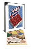 1940's Weetabix Advertisement & 1950's Birds Eye Frozen Strawberries Advertisement Set Prints
