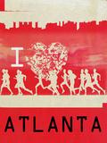 I Heart Running Atlanta Affischer