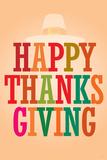 Happy Thanksgiving (Colorful) Art Poster Print Prints