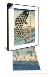 Irises at Horikiri & Suido Bridge and Suruga Hill Set Prints by Ando Hiroshige