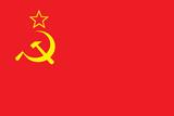 Soviet Flag Art Print Poster Poster