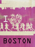 I Heart Running Boston Prints