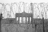 Barbed Wire and Brandenburg Gate Photographic Print