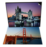 Golden Gate Bridge, San Francisco, California, USA & Tower Bridge, London, England, UK Set Prints by Adina Tovy