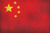 China Flag Distressed Art Print Poster Prints
