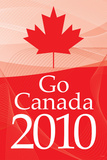 Go Canada 2010 (Winter Olympics, Red) Sports Poster Print Prints