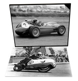 Bob Mcintyre on Gilera 500-4 & Mike Hawthorn in Ferrari, 1958 Set Posters