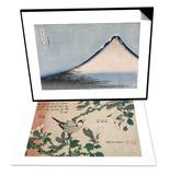 Passereau et magnolia & Le Fuji bleu Set Print by Katsushika Hokusai