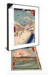 Album de la serie des Cinquante-trois relais du Tokaido & Personnage marchand sous la neige Set Print by Ando Hiroshige