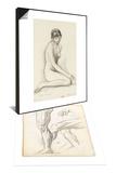 Carnet de dessins & Etude d'apres le modele pour les filles de Thespius Set Prints by Gustave Moreau