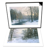 Late Lies the Winter Sun & The Woods in Silver and Gold Set Posters by Anders Andersen-Lundby