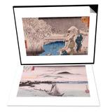 Le vol des oiseaux sauvages a Katad & Ochanomizu Set Prints by Ando Hiroshige
