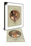 Tetes Byzantines: Blonde, 1897 & Tetes Byzantines: Brunette, 1897 Set Prints by Alphonse Marie Mucha
