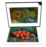 Apples & Four Cut Sunflowers, c.1887 Set Prints by Vincent van Gogh