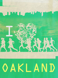I Heart Running Oakland Prints