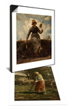 La petite berg & La Fileuse, chevri auvergnate Set Prints by Jean-François Millet