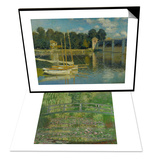 Waterlily Pond, Green Harmony, 1899 & The Bridge at Argenteuil, 1874 Set Prints by Claude Monet