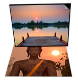 Wat Mahathat & Wat Sa Si at Dusk, Sukhothai Hist. Park, UNESCO World Heritage Site, Thailand Set Posters by Ben Pipe