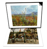 La Guinguette in Montmartre, c.1886 & Field with Poppies Set Prints by Vincent van Gogh