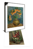 Bouquet of Flowers, c.1886 & Crown Imperial Fritillaries in a Copper Vase, c.1886 Set Prints by Vincent van Gogh