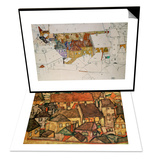 Yellow City, 1914 & The Yellow Town, 1914 Set Prints by Egon Schiele