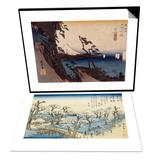 Coucher du soleil sur Koganei & Yui, le col de Satta Set Posters by Ando Hiroshige
