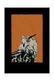 Horned Owl Reproduction procédé giclée par Billy Perkins