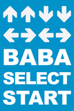 Konami Code (Contra, Blue) Video Game Poster Print Photo