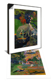 Matamoe (Peacocks in the Country), 1892 & White Horse, 1898 Set Prints by Paul Gauguin