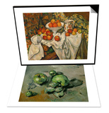 Green Apples, Around 1873 & Apples and Oranges Set Prints by Paul Cézanne
