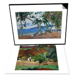 Apatarao (District of Papeete, Capital of Tahiti), 1893 & Seashore I Island of Martinique Set Prints by Paul Gauguin