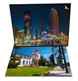 County Courthouse, Santa Barbara, California & The Cosmopolitan on Right and Citycenter on Left Set Prints by Alan Copson