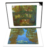 Nympheas (Waterlilies), 1903 & The Japanese Bridge at Giverny, 1918-1924 Set Prints by Claude Monet