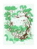 Music Glen Giclee Print by Hernan Valencia