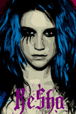 Ke$ha Kesha Face Picture Blue Music Poster Print Prints
