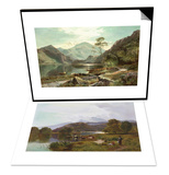 Day on the River, North Wales & Loch Lomond, c.1871 Set Posters by Sidney Richard Percy