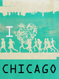 I Heart Running Chicago Posters