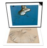 Danseuse penchee en avant & Danseuse assise, vue de profil vers la droite Set Art by Edgar Degas