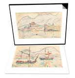 Carnet : La cote Nord de la Corse & Carnet : Vue de saint-Florent Set Prints by Paul Signac