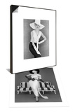 Model in John Cavanagh's Strapless Evening Gown, Spring 1957 & Outfit and White Hat, 1960s Set Posters by John French