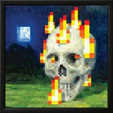 Minecraft Burning Skull Video Game Poster Poster