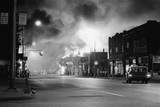 Fires Burning in Detroit during Riots Photographic Print