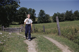 Boy Walking with Fishing Pole Photographic Print by William P. Gottlieb