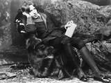 Oscar Wilde Lounging Photographic Print