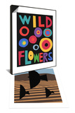 Cultivate with Three Birds & Wildflowers Poster Set Prints by Jerry Kott