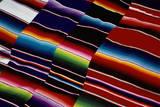 Brightly Striped Cloth Fotografie-Druck von Randy Faris